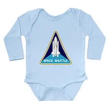 NASA Space Shuttle Long Sleeve Infant Bodysuit