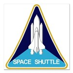 NASA Space Shuttle Square Car Magnet 3