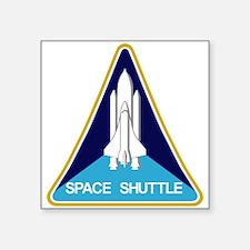 "NASA Space Shuttle Square Sticker 3"" x 3"""