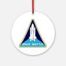 NASA Space Shuttle Ornament (Round)