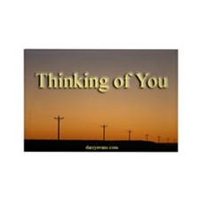 Thinking Of You Rectangle Magnet