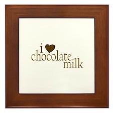I Love Chocolate Milk Framed Tile