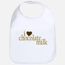 I Love Chocolate Milk Bib