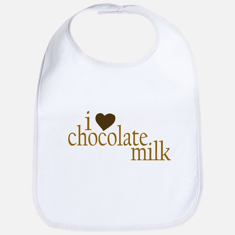 I Love Chocolate Milk Bib