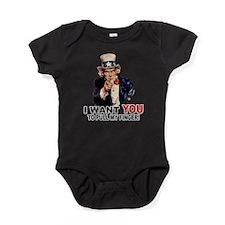 PULL MY FINGER.png Baby Bodysuit