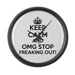 OMG Keep Calm Large Wall Clock