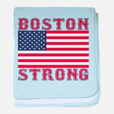 BOSTON STRONG U.S. Flag baby blanket