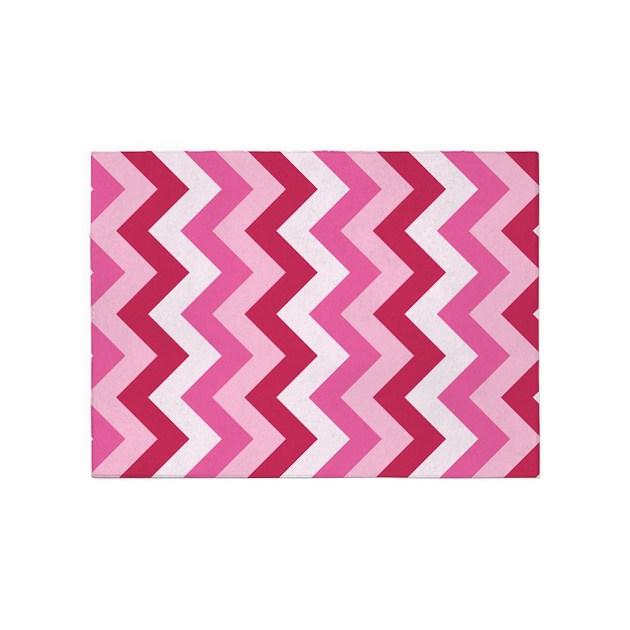Hot Pink ZigZag 5'x7'Area Rug By ZandiepantsHomeDecor