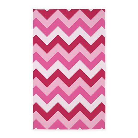 Hot Pink ZigZag 3u0027x5u0027 Area Rug