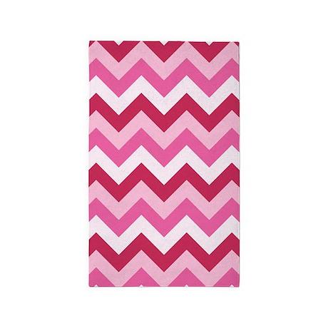 hot pink zigzag area rug