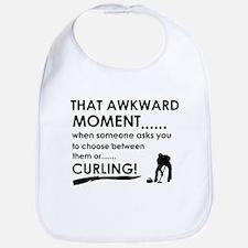Curling sports designs Bib