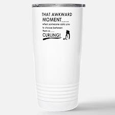 Curling sports designs Travel Mug