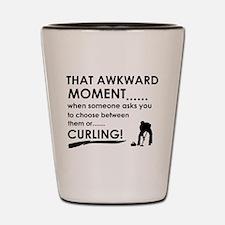 Curling sports designs Shot Glass