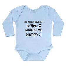 My Affenpinscher makes me happy Long Sleeve Infant