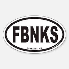 Fairbanks Alaska FBNKS Euro Oval Decal
