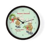 MERRY XMOOSE Wall Clock