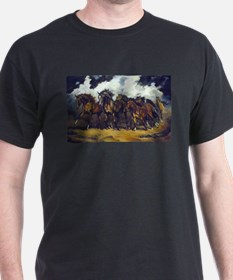 Cute Wild horses running T-Shirt