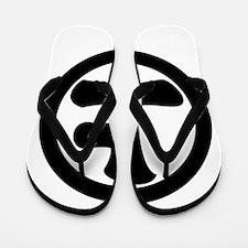 Sage-jo in circle Flip Flops