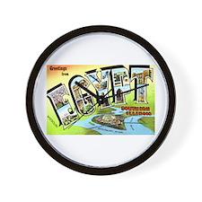 Egypt Illinois Greetings Wall Clock