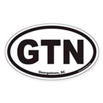 Georgetown South Carolina GTN Euro Oval Sticker
