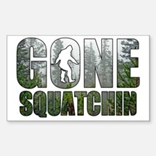 Gone Squatchin deep woods Decal