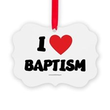 I Love Baptism - LDS Clothing - LDS T-Shirts Ornam