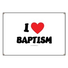 I Love Baptism - LDS Clothing - LDS T-Shirts Banne