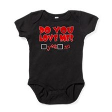 DOYOULOVEMEWHITE.png Baby Bodysuit