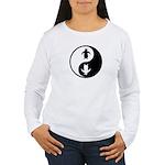 Yin Yang Penguins Women's Long Sleeve T-Shirt