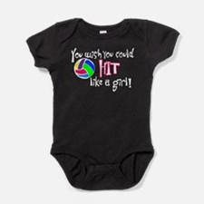You Wish You Could Hit Like a Girl Baby Bodysuit