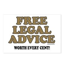 Free Legal Advice (1) Postcards (Package of 8)