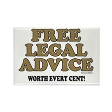 Free Legal Advice (1) Rectangle Magnet (10 pack)