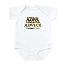 Free Legal Advice (1) Infant Bodysuit