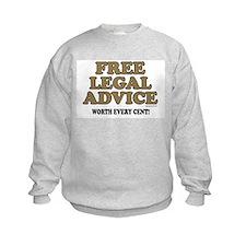 Free Legal Advice (1) Sweatshirt