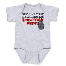 Crime Lab - Leave Your Prints Baby Bodysuit