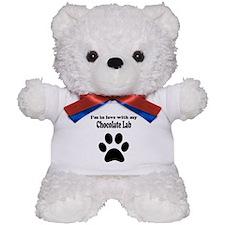 Im In Love With My Chocolate Lab Teddy Bear