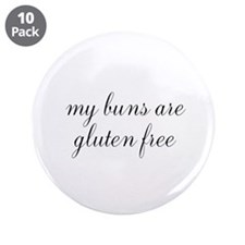 """my buns are gluten free 3.5"""" Button (10 pack)"""