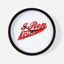 I rep Tonga Wall Clock