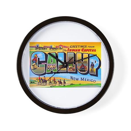 Gallup New Mexico Greetings Wall Clock