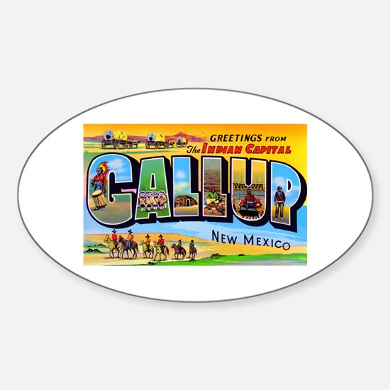 Gallup New Mexico Greetings Oval Decal