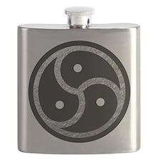 Silver BDSM EMBLEM - SYMBOL Flask