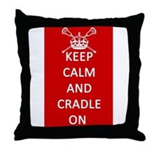 Keep Calm and Cradle On Throw Pillow