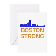 Boston Strong Skyline Greeting Card