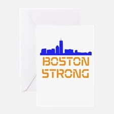 Boston Strong Skyline Greeting Card