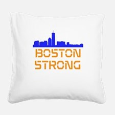 Boston Strong Skyline Square Canvas Pillow