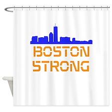 Boston Strong Skyline Shower Curtain