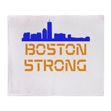Boston Strong Skyline Throw Blanket