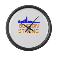 Boston Strong Skyline Large Wall Clock