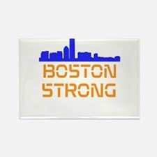 Boston Strong Skyline Rectangle Magnet