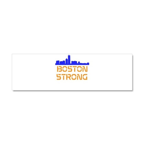 Boston Strong Skyline Car Magnet 10 x 3